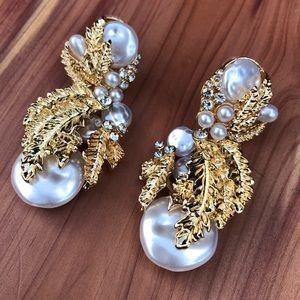 Zara Pearl Embellished Drop Earrings!